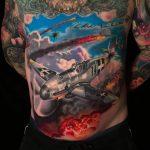 katonai repülőgép tetoválás, military airplane tattoo