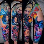 színes alkar tetoválás 1, colored forearm tattoo 1