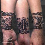 kar fekete fehér tetoválás , arm black white tattoo
