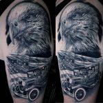 sas Amerika tetoválás, eagle america tattoo