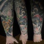 Japán motívum alkar, Japanese motif forearm