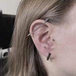 industrial piercing lánc nyíl, industrial piercing chain arrow