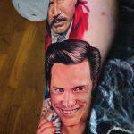 Jim Carrey alkar tetoválás, Jim Carrey forearm tattoo