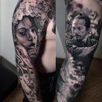 Japán filmszereplő tetoválás, Japanese filmmaker tattoo