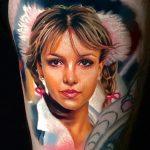 Britney Spears énekesnő arckép, Portrait of singer Britney Spears