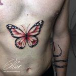 pillangó színes tetoválás, butterfly color tattoo